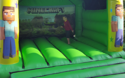 Minecraft Bouncy Castle - Southport Bouncy Castles