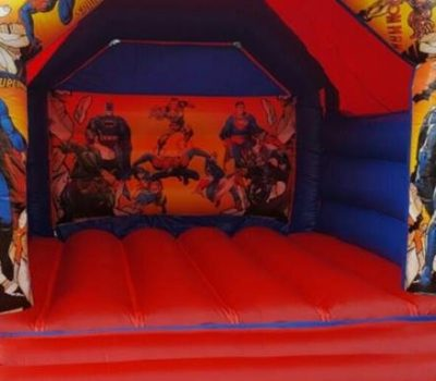 Superhero Bouncy Castle - Southport Bouncy Castles